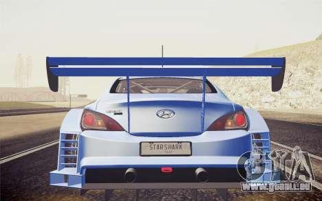 Hyundai Genesis Coupe 2010 Tuned für GTA San Andreas rechten Ansicht