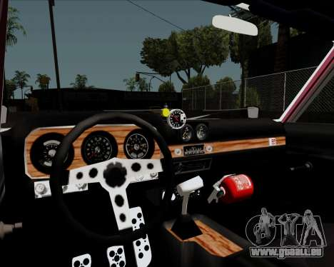 Ford Falcon Sprint 1972 für GTA San Andreas Innenansicht