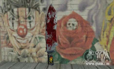Large bloody knife für GTA San Andreas zweiten Screenshot
