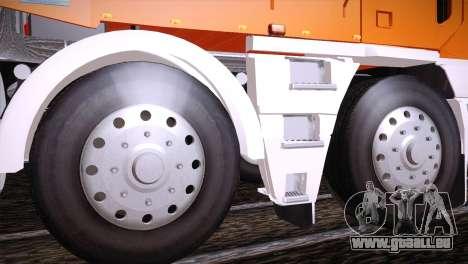 Freightliner Argosy 8x4 für GTA San Andreas Rückansicht
