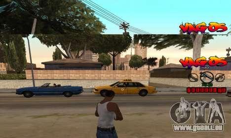 HUD Vagos für GTA San Andreas zweiten Screenshot