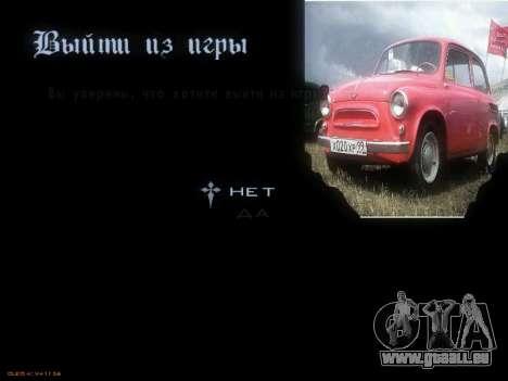 Menü sowjetischen Autos für GTA San Andreas siebten Screenshot