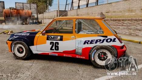 Renault 5 Maxi Turbo pour GTA 4 est une gauche