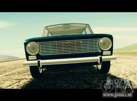 Fiat 124 Familiare pour GTA San Andreas sur la vue arrière gauche