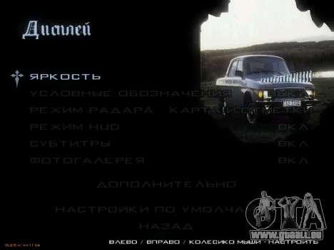 Menü sowjetischen Autos für GTA San Andreas dritten Screenshot