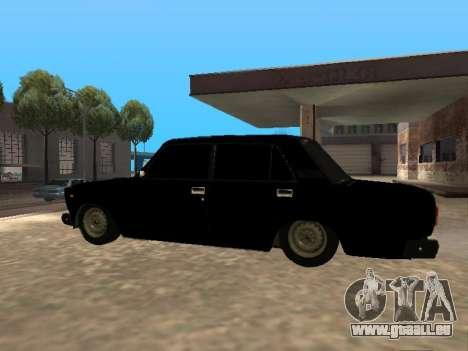 VAZ 2107 v1.2 Final pour GTA San Andreas laissé vue