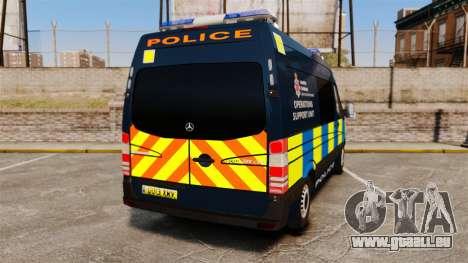 Mercedes-Benz Sprinter Police [ELS] pour GTA 4 Vue arrière de la gauche