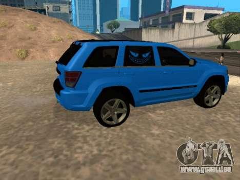 Jeep Grand Cherokee SRT8 Restyling M für GTA San Andreas Rückansicht