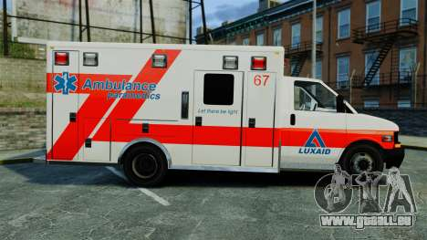 Brute Luxaid Ambulance [ELS] für GTA 4 linke Ansicht