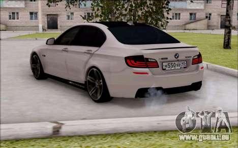 BMW 550 F10 xDrive für GTA San Andreas linke Ansicht