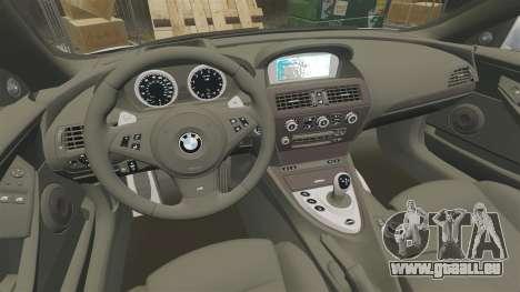 BMW M6 Vossen pour GTA 4 est une vue de l'intérieur
