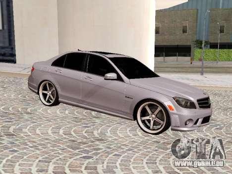 Mercedes-Benz C63 pour GTA San Andreas laissé vue