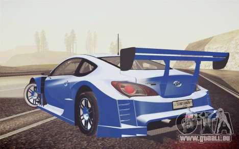 Hyundai Genesis Coupe 2010 Tuned pour GTA San Andreas laissé vue