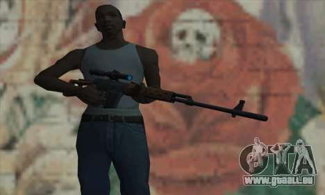 Dragunov Sniper Rifle für GTA San Andreas dritten Screenshot