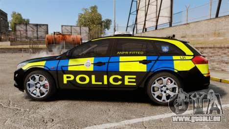 Vauxhall Insignia Sports Tourer Police [ELS] pour GTA 4 est une gauche