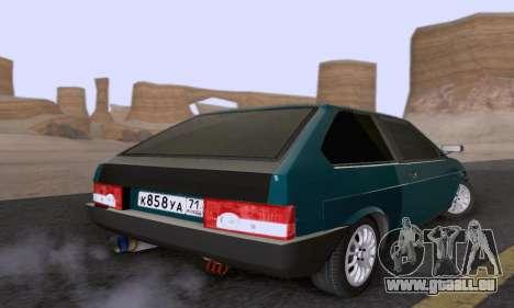 VAZ 2108 Tula pour GTA San Andreas sur la vue arrière gauche