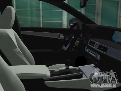 Lexus GS350 F Sport 2013 pour une vue GTA Vice City d'en haut