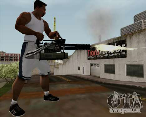 Renegades Minigun Black für GTA San Andreas fünften Screenshot