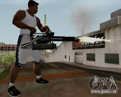 Renegades Minigun Black pour GTA San Andreas cinquième écran