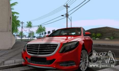 Mercedes-Benz W222 pour GTA San Andreas sur la vue arrière gauche
