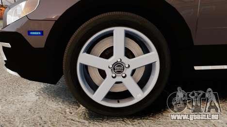 Volvo XC70 2014 Unmarked Police [ELS] für GTA 4 Rückansicht