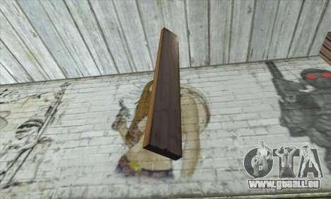 Des planches de bois pour GTA San Andreas deuxième écran