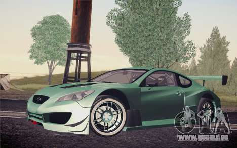 Hyundai Genesis Coupe 2010 Tuned für GTA San Andreas obere Ansicht