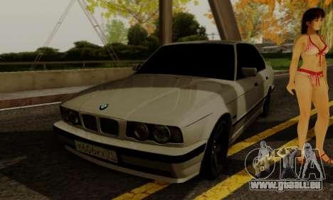 BMW 525 Re-Styling pour GTA San Andreas vue intérieure