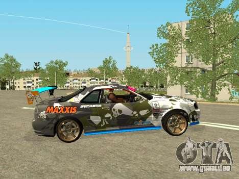 Nissan Skyline Drift pour GTA San Andreas laissé vue