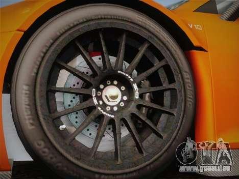 Audi R8 LMS v2.0.4 DR pour GTA San Andreas vue de côté