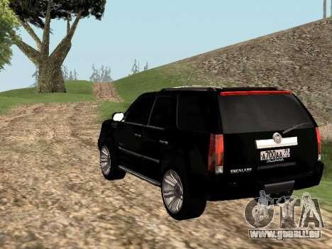 Cadillac Escalade 2010 für GTA San Andreas linke Ansicht
