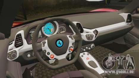 Ferrari 458 Italia pour GTA 4 est un côté