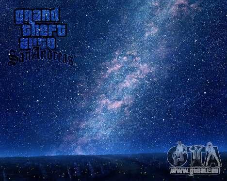 De nouveaux écrans de démarrage de l'Espace pour GTA San Andreas troisième écran