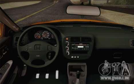 Honda Civic 1999 Si für GTA San Andreas rechten Ansicht