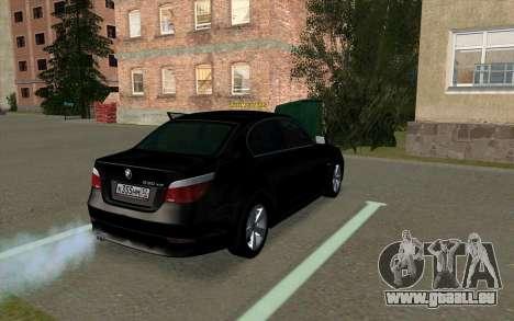 BMW 530xd pour GTA San Andreas vue de droite