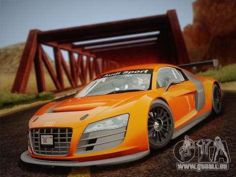 Audi R8 LMS v2.0.4 DR pour GTA San Andreas vue intérieure