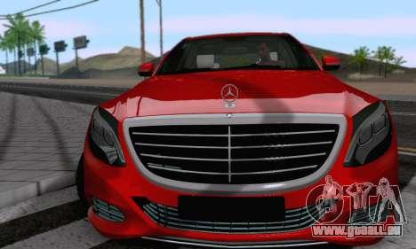 Mercedes-Benz W222 pour GTA San Andreas vue de droite