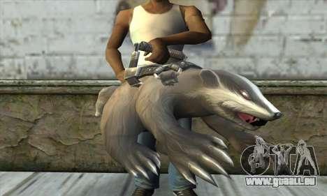 Tronçonneuse à partir de Postal 3 pour GTA San Andreas troisième écran