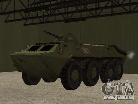 BTR-70 pour GTA San Andreas vue arrière