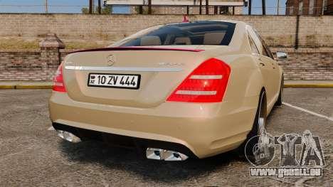 Mercedes-Benz S65 (W221) für GTA 4 hinten links Ansicht