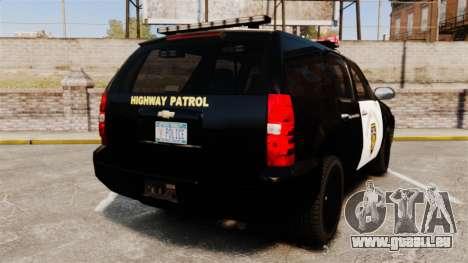Chevrolet Tahoe 2007 LCHP [ELS] für GTA 4 hinten links Ansicht