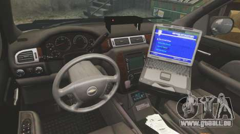Chevrolet Tahoe 2007 LCHP [ELS] für GTA 4 Rückansicht