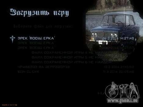 Menü sowjetischen Autos für GTA San Andreas fünften Screenshot