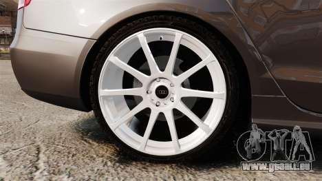Audi S4 2013 Unmarked Police [ELS] pour GTA 4 Vue arrière