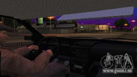 Audi 100 de la Police ОБЭП pour GTA San Andreas vue intérieure