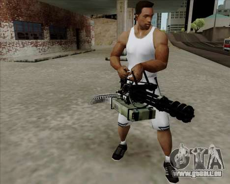 Renegades Minigun Black für GTA San Andreas zweiten Screenshot