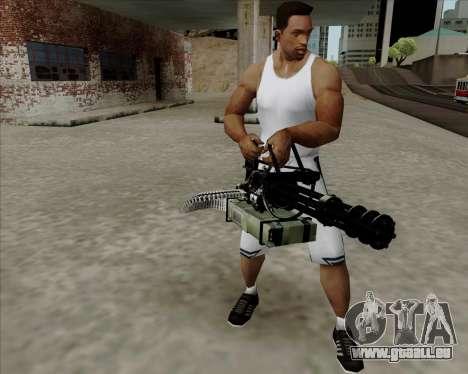 Renegades Minigun Black pour GTA San Andreas deuxième écran