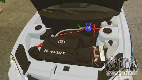 VAZ-2170 de la Police pour GTA 4 est une vue de l'intérieur