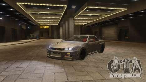 Nissan Skyline GTR-34 Nismo Z-Tune pour GTA 4 est un côté