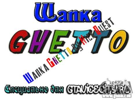 Шапка Ghetto par Nick Quête pour GTA San Andreas